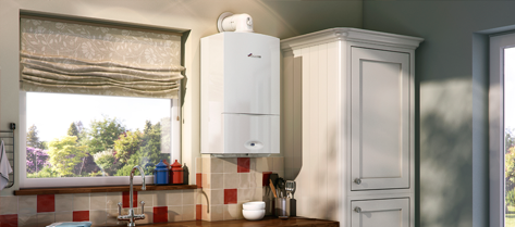 A wall mounted boiler